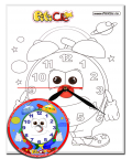 Clown – Do it with your own hands! Paiting with a clock